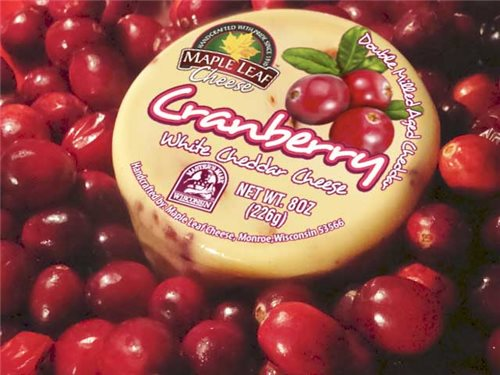 Cranberry White Cheddar Cheese 8oz (Maple Leaf)